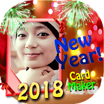 New Year 2018 Card Maker Icon