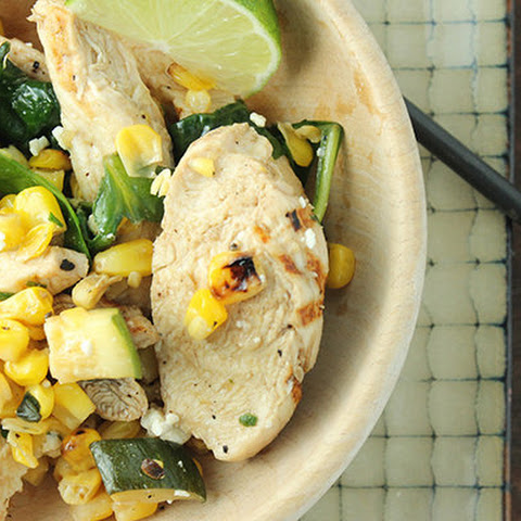 Chicken, Spinach, and Corn Sauté
