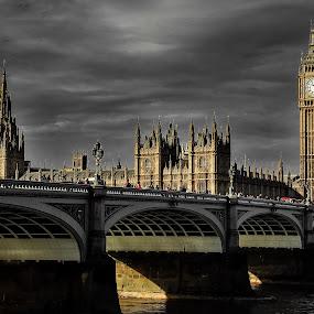 Westminster Bridge 2 by Gabriel Tocu - Buildings & Architecture Public & Historical ( landmark, uk, england, london, westminster bridge, architectural, westminster, big ben, bridge, architecture, historical, public,  )
