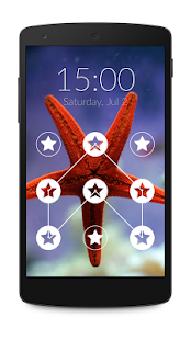 Star Pattern Lock Screen - screenshot