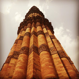 Qutub minar by Aakanksha Sharma - Buildings & Architecture Statues & Monuments ( qutubminar, monument, india, samsunggrand, fromthebase )