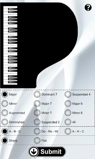 Piano Chords Flash Cards - screenshot