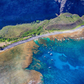 Na Pali from the Air by Brandon Beadel - Landscapes Travel ( helicopter, kauai, mountains, na pali, na pali coast, wonder, aerial photography, aerial, air, ocean, beach, coast, hawaii )
