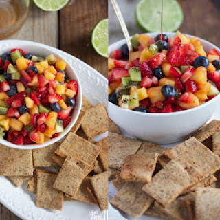 Honey Lime Fruit Salad with Paleo Cinnamon Sugar Chips