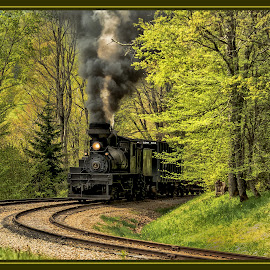 Roundin' The Curve by James Eickman - Transportation Trains (  )