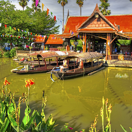 River & Boats Thailand by Vladimir Gergel - City,  Street & Park  City Parks