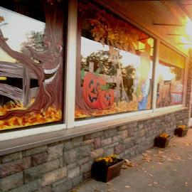 Fall window by Dawn Morri Loudermilk - Buildings & Architecture Public & Historical