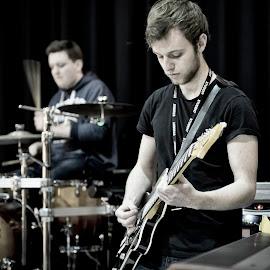 School of Rock by Graham Peel - People Musicians & Entertainers ( guitar, rock, musician, drums, gig )