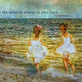 May the wind be always at your back... by William Underwood  - Typography Quotes & Sentences