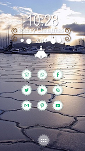 Beautiful winter sky theme - screenshot