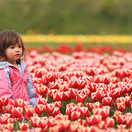 the flowers ... by Stanley P. - Babies & Children Children Candids ( children candid, flowers )