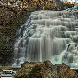 Rockway Falls by Carl Chalupa - Landscapes Waterscapes ( water, lincoln ont, waterfalls, falls, rockway falls )
