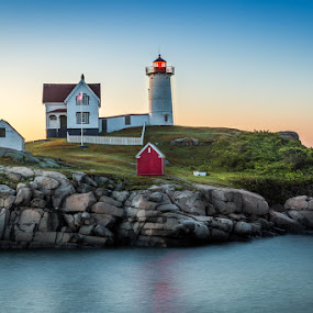 by Ed & Cindy Esposito - Landscapes Waterscapes ( atlantic ocean, maine, lighthouse, york, nubble light, island )