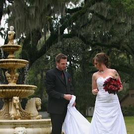 by Bob Wikert - Wedding Bride & Groom