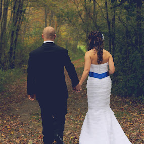 Just Married.  by Mallory Walsh-Ruggiero - Wedding Bride & Groom