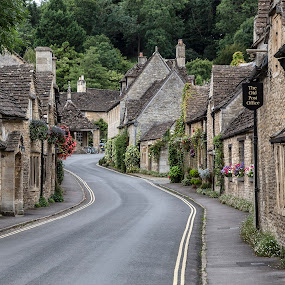 Castle Combe, Cotswolds England by Terry Scussel - City,  Street & Park  Historic Districts ( village, castle combe, cotswolds, the old post office )