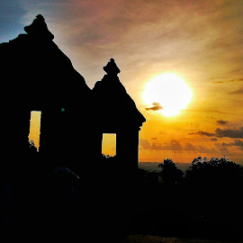 Ratu Boko Temple by Frans Priyo - Buildings & Architecture Statues & Monuments ( history, temple, sunset, monument, historical, travel, landscape )