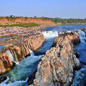 ::..Dhuadhar Waterfall over Narmada River India..:: by Avinash Lodhi - Landscapes Waterscapes ( narmada, pradesh, india, madhya, river )