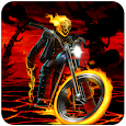 Monster Ghost Ride Scary Fire Monster Racing Game