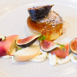 by Rany Haj - Food & Drink Candy & Dessert ( creme brulee, dessert, figs )