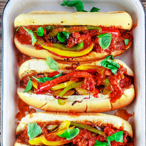 Game Day Italian Sausage and Peppers Hoagies