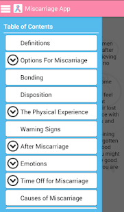 The Miscarriage App - screenshot