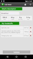 Screenshot of Nutrition Tracker