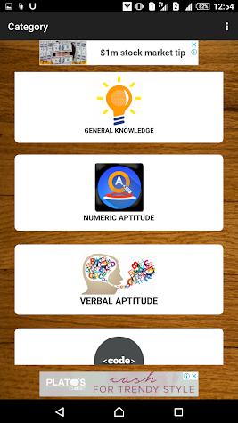 Aptitude and Reasoning Screenshot