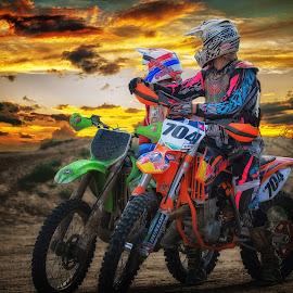 Beautiful Sunset by David Freese - Sports & Fitness Motorsports ( motorcycle, motorsport )