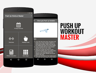 15 Days Push Up Workout Master Fitness app screenshot 1 for Android