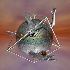 by Christopher Payne - Illustration Sci Fi & Fantasy ( clouds, hand, ball, sky, box, surreal )
