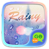 (FREE) GO SMS RAINY THEME For PC (Windows And Mac)