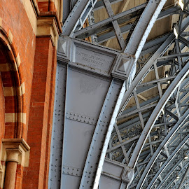 Products of the Butterley Company by DJ Cockburn - Buildings & Architecture Other Interior ( roof, railway, railroad, redbrick, st pancras station, victorian, butterley company, steel, wall )