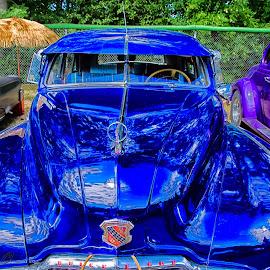 AUto show by Francois Noiseux - Transportation Automobiles ( old, blue, buick, show, car show )