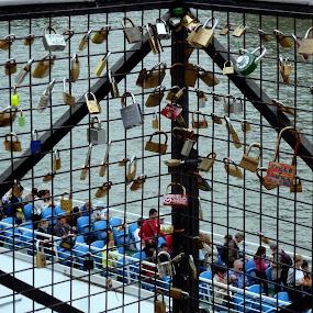 Lock my heart by Claudia Romeo - Abstract Patterns ( paris, lockers )