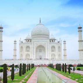 TAJ by Rs Photography - Buildings & Architecture Statues & Monuments ( digital, lovely, art, wallpaper, large, mobile, screen, wallpapers, best, prints, cover, 3d, beautiful, awesome, desktop, background, newart, fullhd, hd, latest )