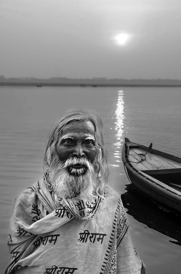 Early Morning Bath by Milind Shirsat - People Portraits of Men ( black and white, candid, people, portrait, street photography )