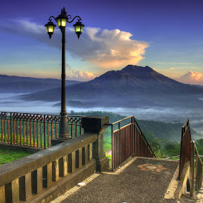 Morning at Penelokan by I Gusti Putu Purnama Jaya - Landscapes Mountains & Hills ( oka permana, aditya prayoga, tut bolank, agoes antara, yuditia mendra )