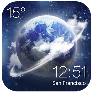 HD Transparent Weather Clock❈