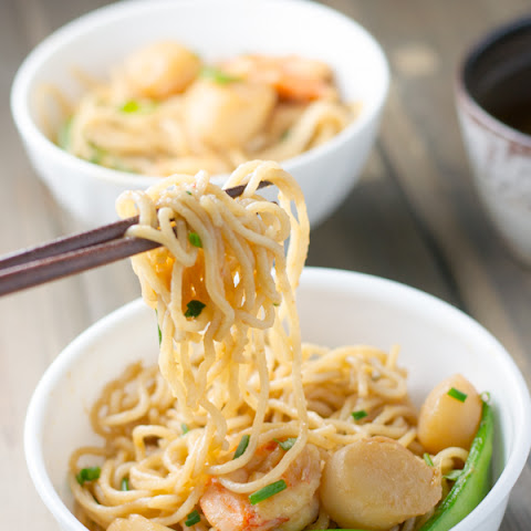 Scallop and Shrimp with Noodles