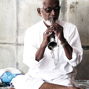 Soothing - Flute  by Alay Shah - People Musicians & Entertainers ( music, player, flute, musician )