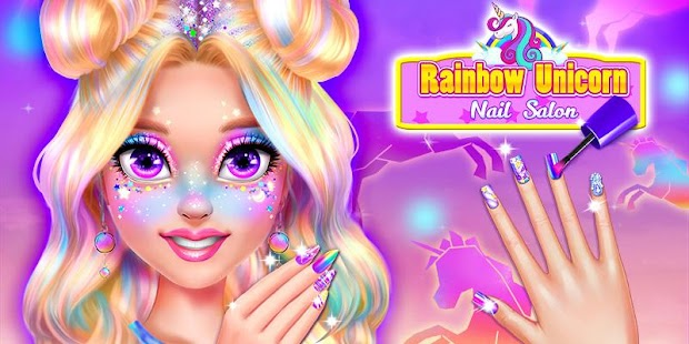 Rainbow Unicorn Nail Beauty Artist Salon for pc