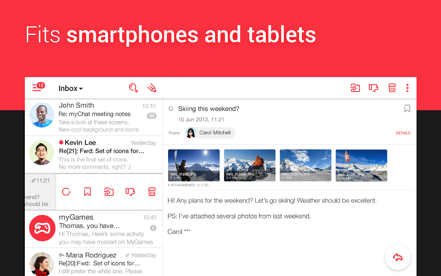 myMail — Free Email Application Screenshot 4