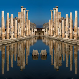 MAGNESİA by Celal Erdem - Buildings & Architecture Statues & Monuments ( mirror, magnesia, reflection, antik, agora, turkey, city )