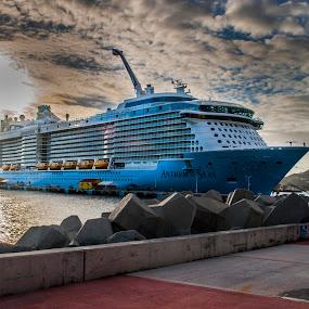 Anthem of the Seas by Brad Chapman - Transportation Boats ( 2017, royal caribbean, antigua, san juan, new york, ny, cruise, martineque, brad, barbados, royal, st marteen, anthem of the seas, cruise 2017, st. kitts, lisa )