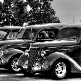 Hot Rods by Greg Bennett - Transportation Automobiles ( classic cars, black and white, automobile, cars, hot, transportation, hot rods, car cruise )