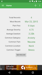 Health Log screenshot for Android