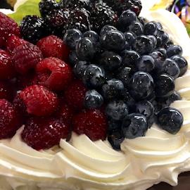 Berries on Cake by Lope Piamonte Jr - Food & Drink Cooking & Baking