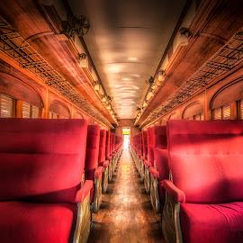 Museo de los Ferrocarriles by Ole Steffensen - Transportation Trains ( museo de los ferrocarriles, vintage, mexico, train car, puebla, train, seats )