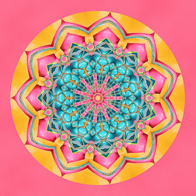 Easter Mandala 2 by Pam Blackstone - Illustration Abstract & Patterns ( pastels, easter, blue, pink, symmetry, yellow, mandala )